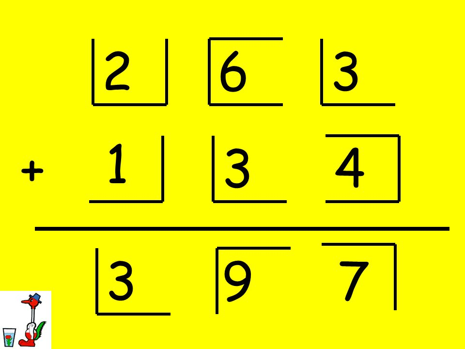 2 6 3 1 + 3 4 3 9 7