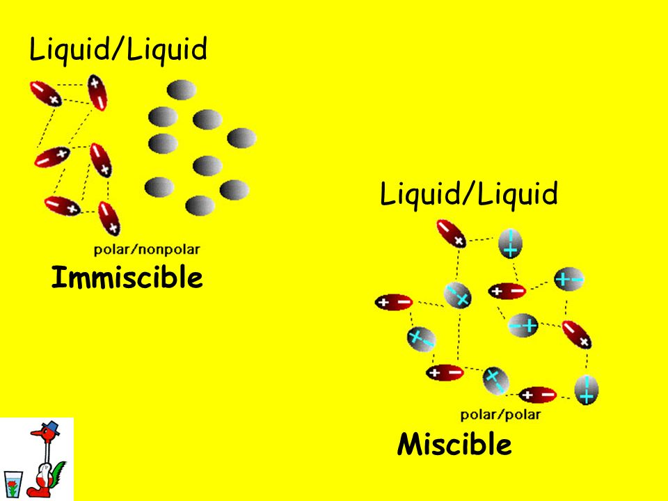 Liquid/Liquid Liquid/Liquid Immiscible Miscible
