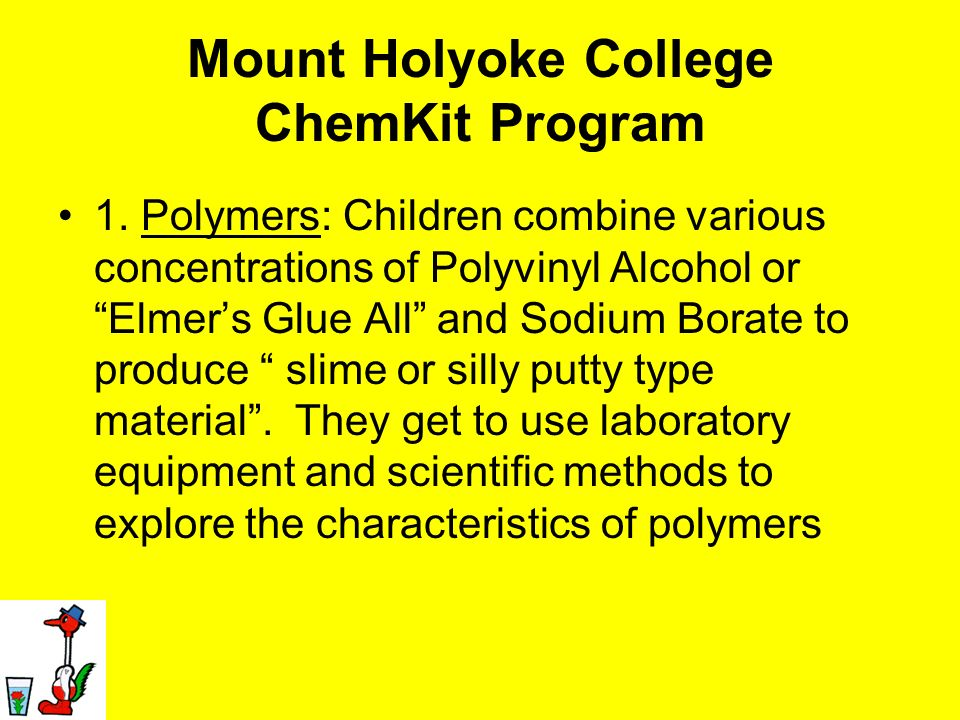 Mount Holyoke College ChemKit Program