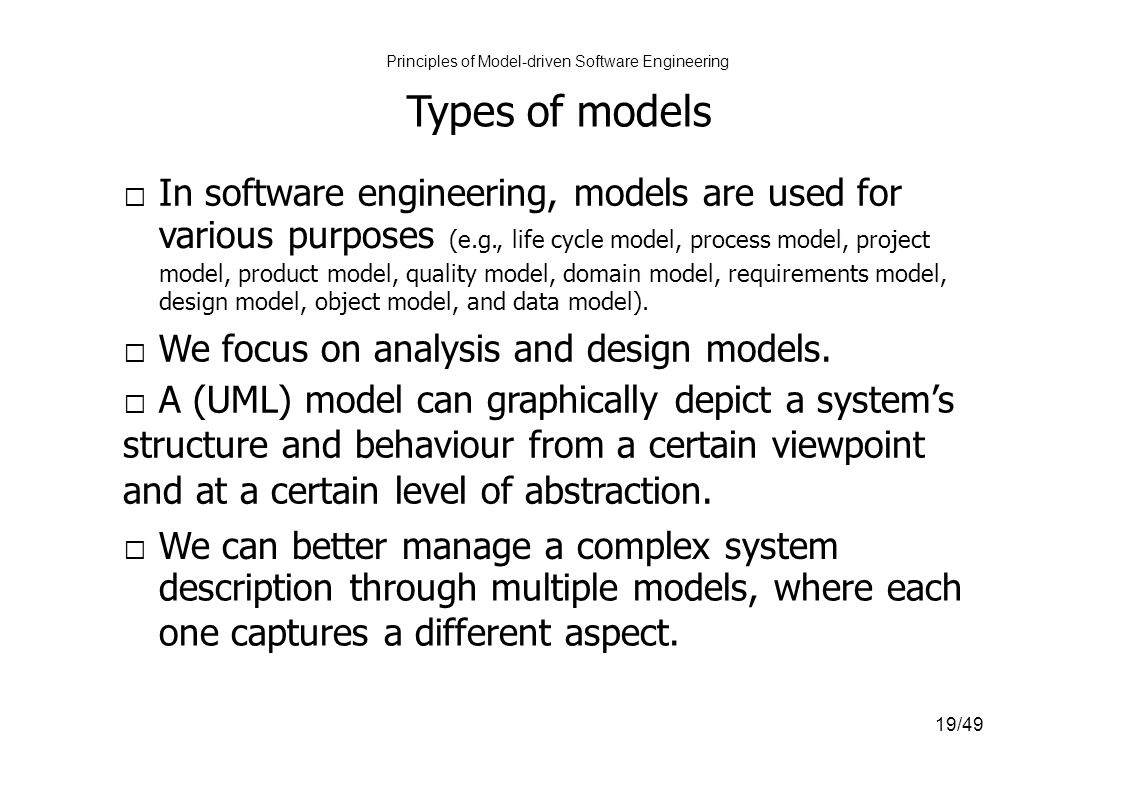 principles of software engineering University of maryland university college offers a cmis course, software engineering principles and techniques (cmis 330), toward online degrees and certificates.