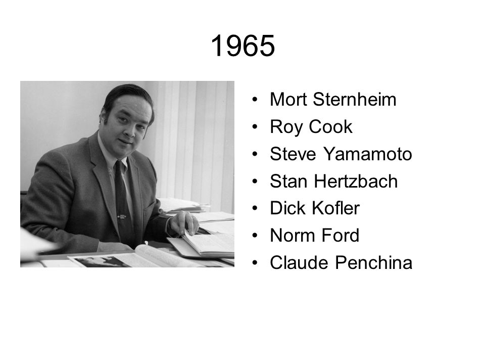1965 Mort Sternheim Roy Cook Steve Yamamoto Stan Hertzbach Dick Kofler