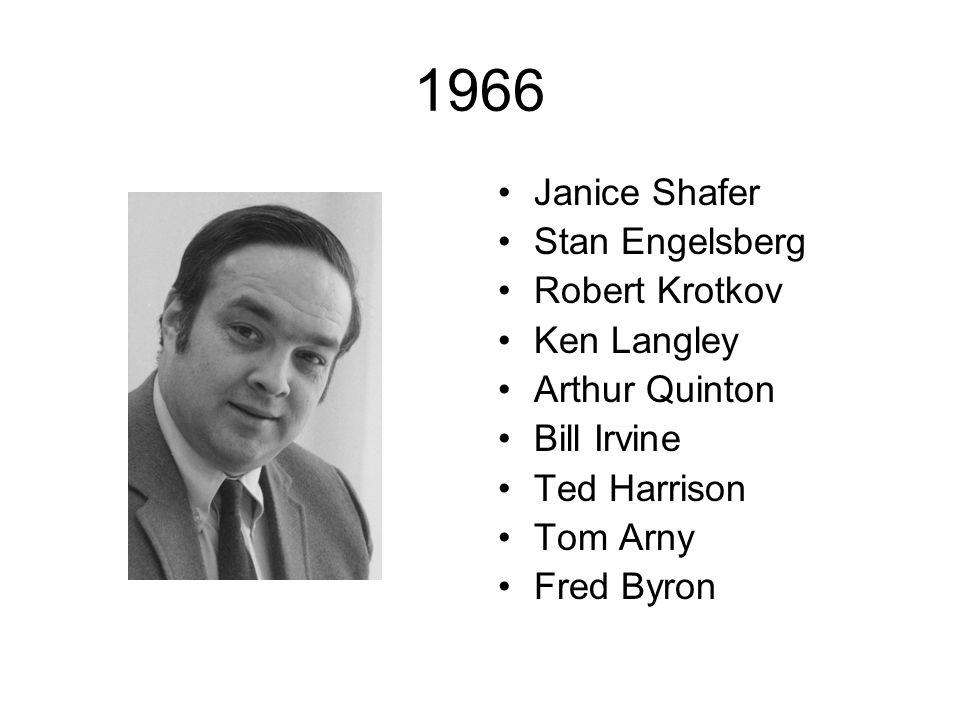 1966 Janice Shafer Stan Engelsberg Robert Krotkov Ken Langley