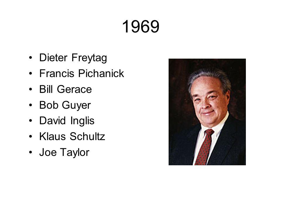 1969 Dieter Freytag Francis Pichanick Bill Gerace Bob Guyer
