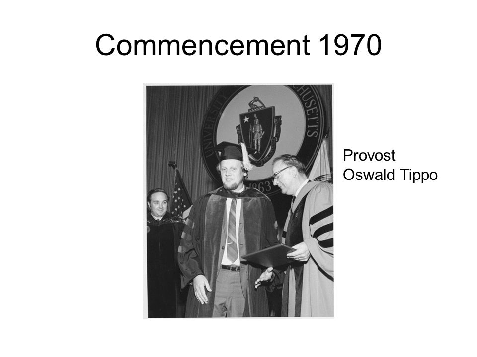 Commencement 1970 Provost Oswald Tippo
