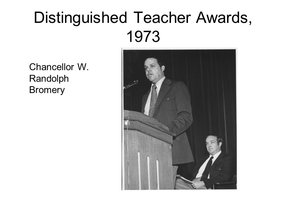 Distinguished Teacher Awards, 1973