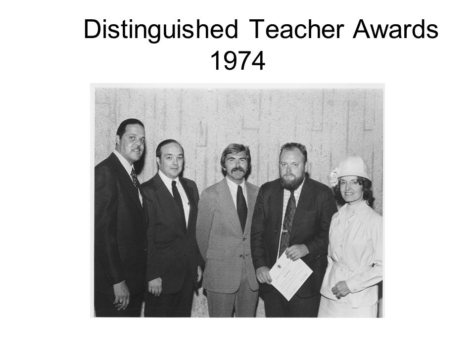 Distinguished Teacher Awards 1974