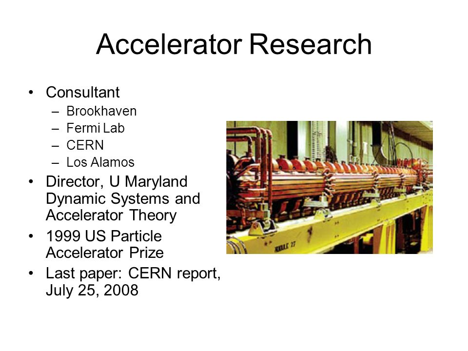 Accelerator Research Consultant