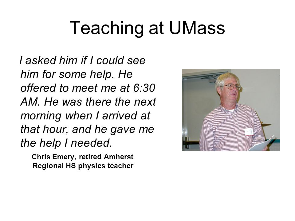 Teaching at UMass
