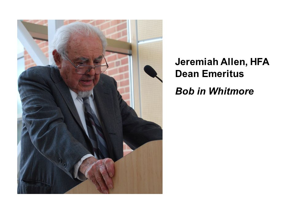 Jeremiah Allen, HFA Dean Emeritus