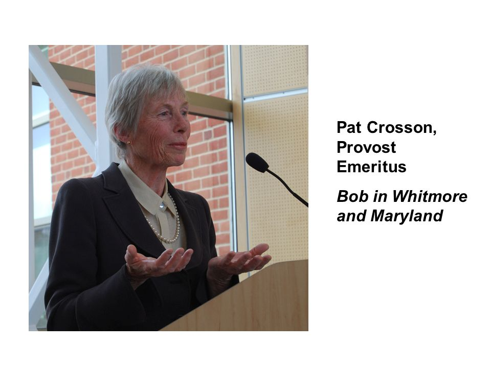 Pat Crosson, Provost Emeritus