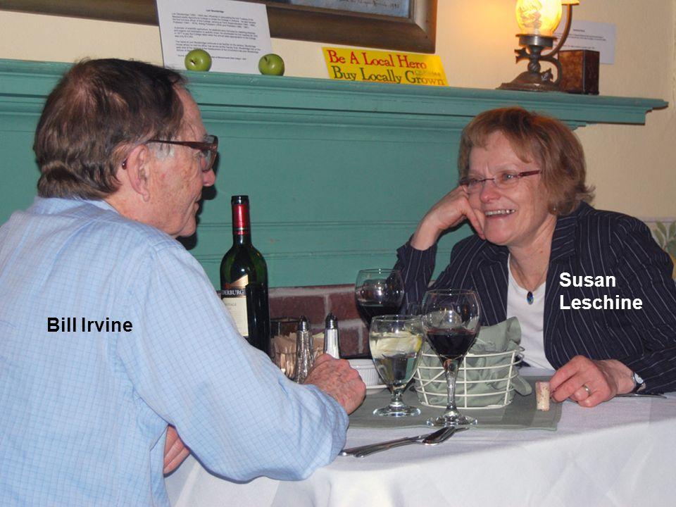 Susan Leschine Bill Irvine