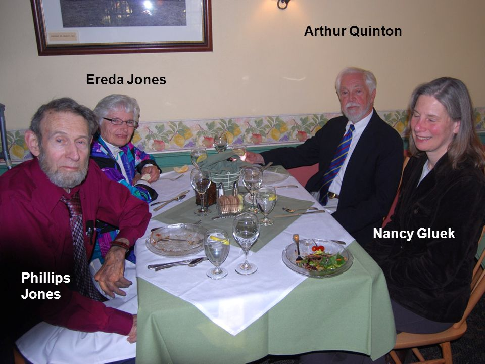 Arthur Quinton Ereda Jones Nancy Gluek Phillips Jones