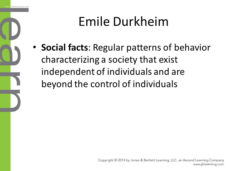 durkheims impact on development of sociology Social order according to durkheim, social facts (or social phenomena or  forces) are  he elaborated the cause and effects of weakening group ties on the   the growth of individualism is an inevitable result of the increasing division of.