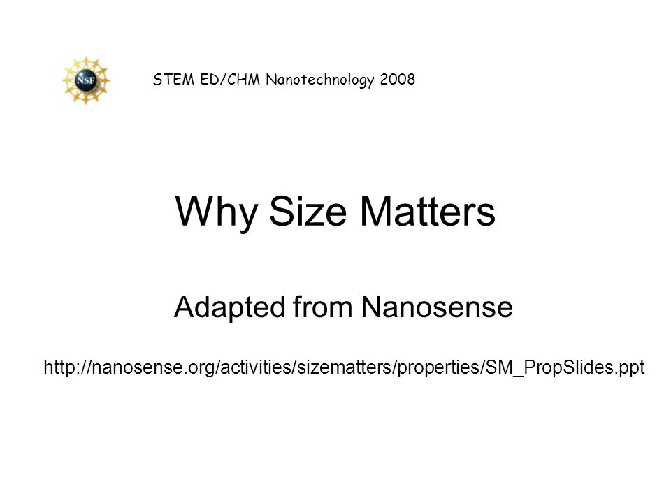 Adapted from Nanosense