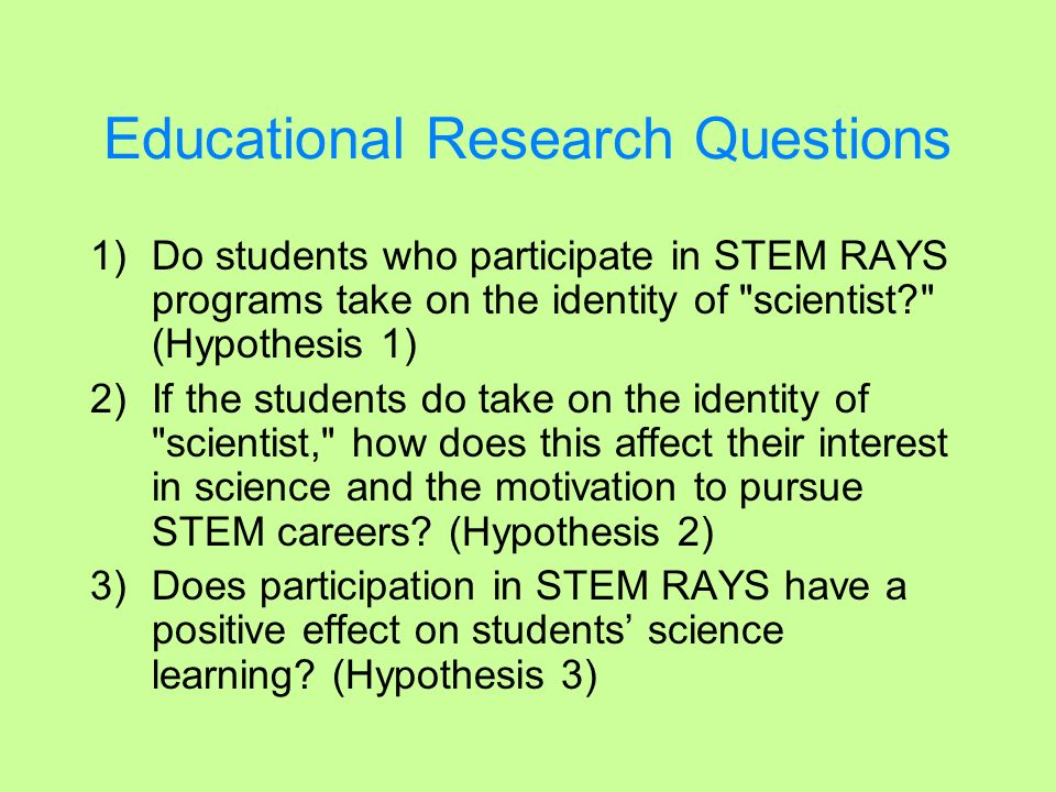 Educational Research Questions