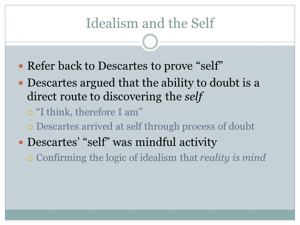 an analysis of descartess doubts and deception of the senses Descartes' meditations the wax example is a 'showcase' for descartes' rationalism descartes reaches the conclusion that a clearer understanding of the physical world must come from the use of judgement and reason as opposed to what appears to be the case through perception via the senses and use of the imagination.