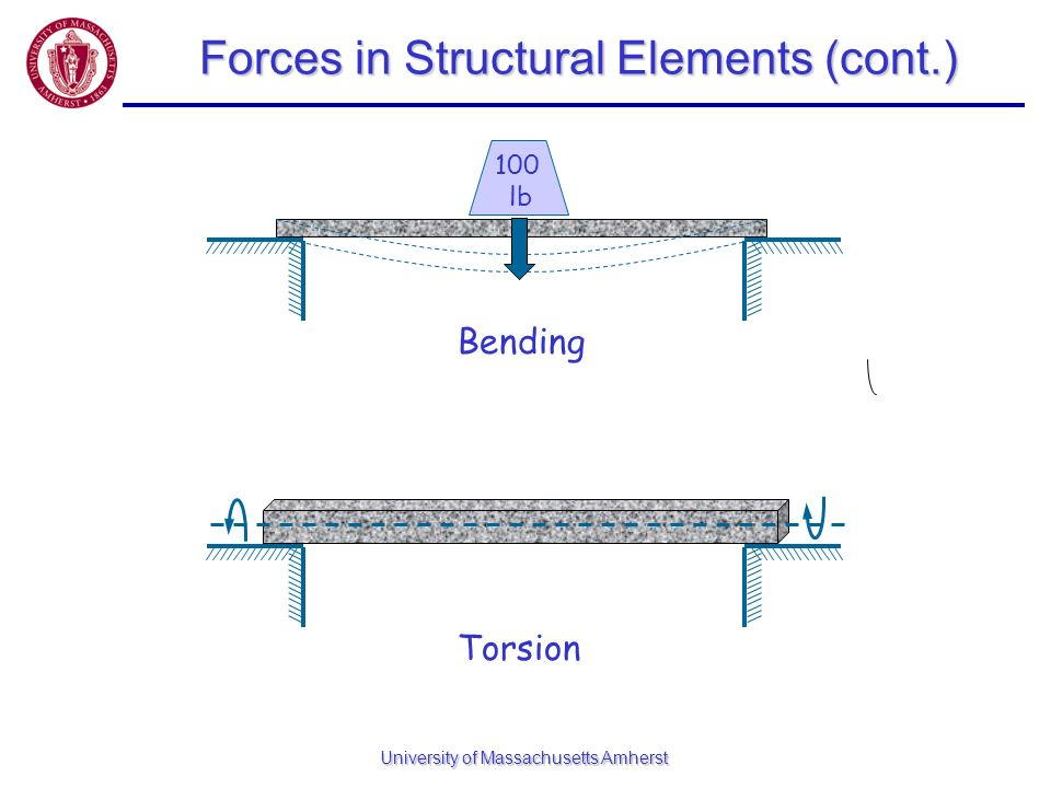 Forces in Structural Elements (cont.)