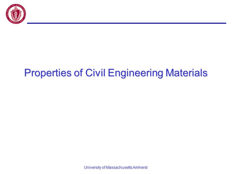 Properties of Civil Engineering Materials