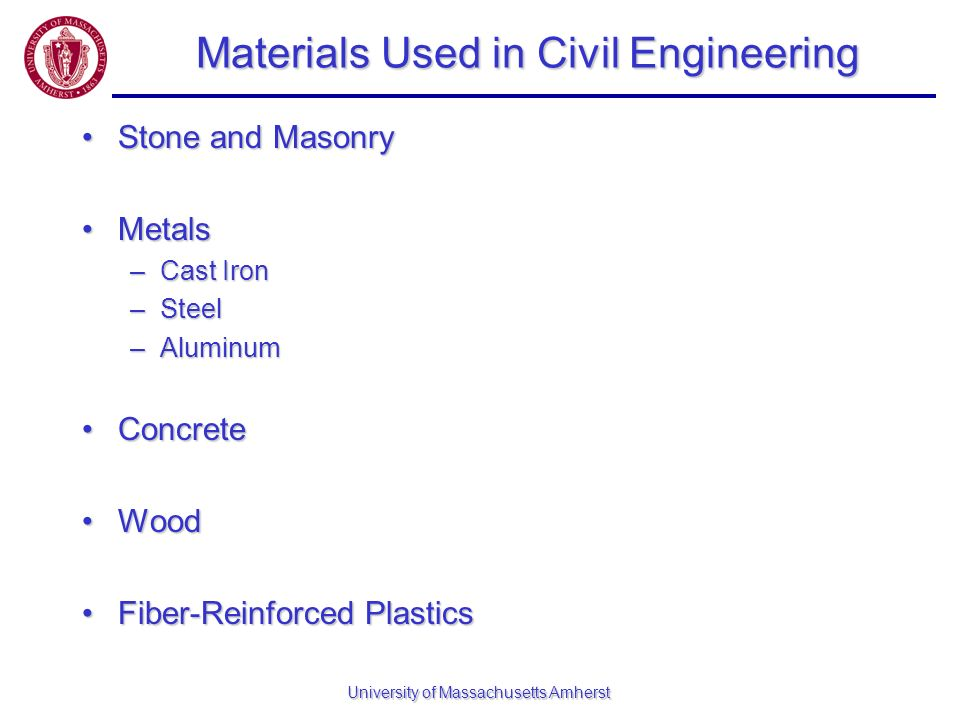 Materials Used in Civil Engineering
