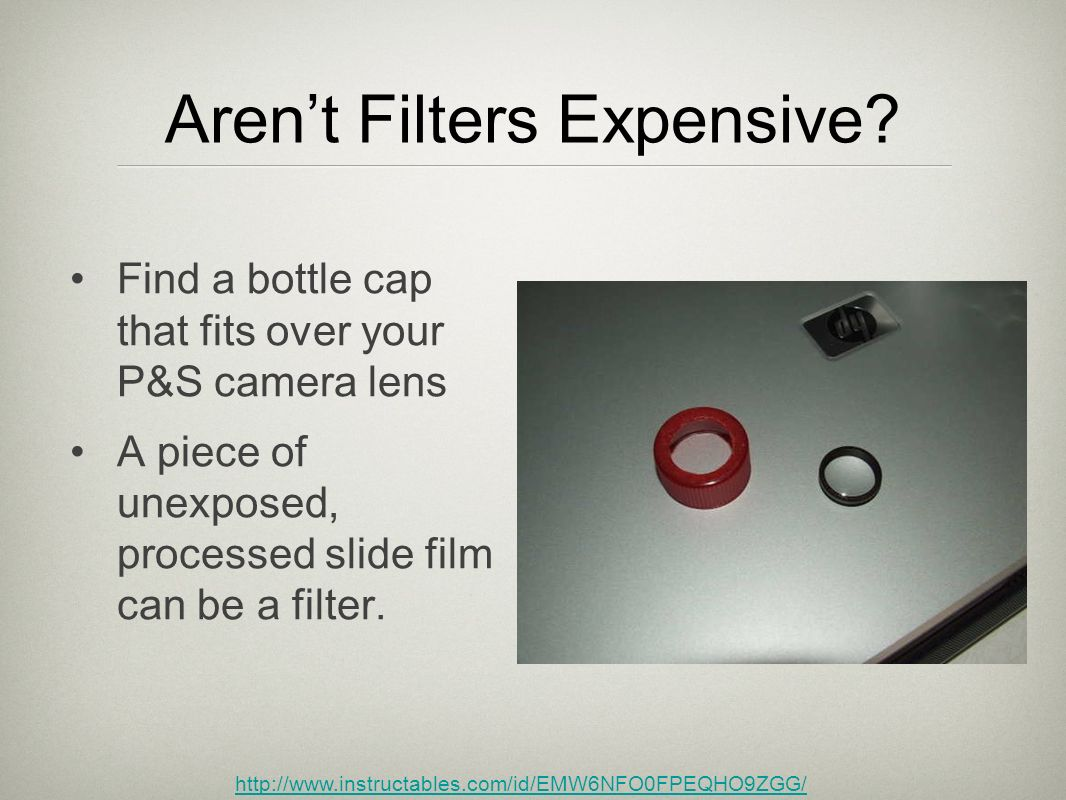Aren't Filters Expensive