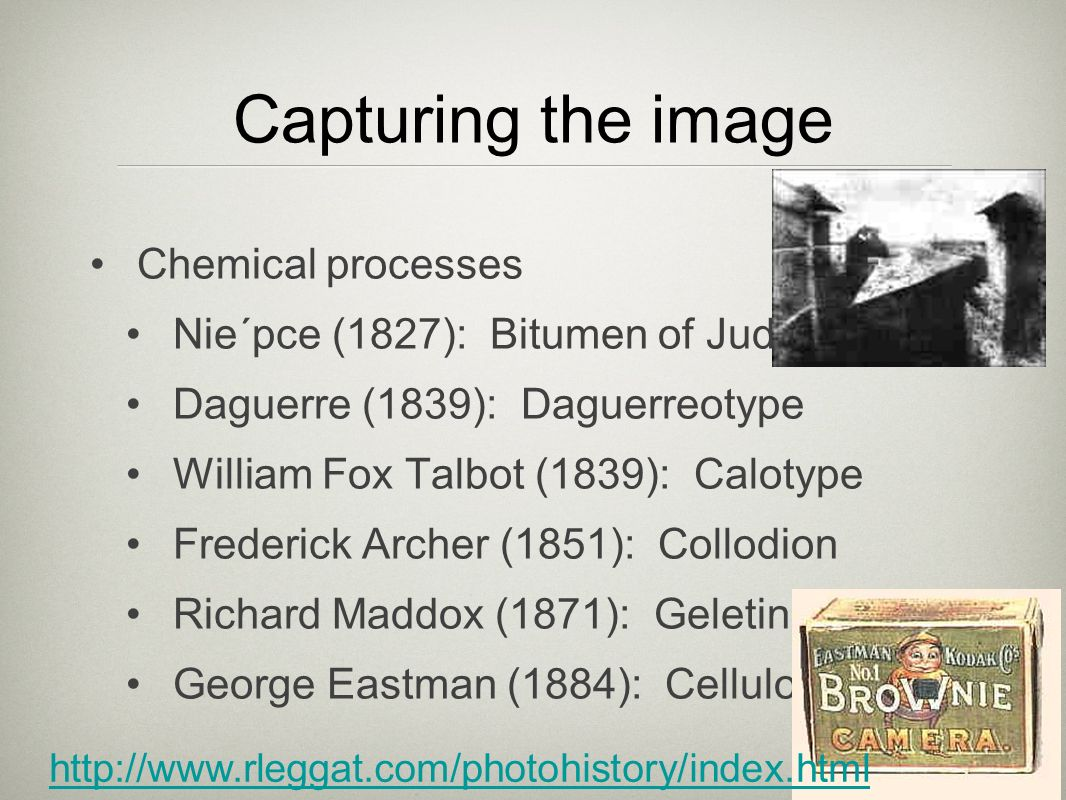 Capturing the image Chemical processes
