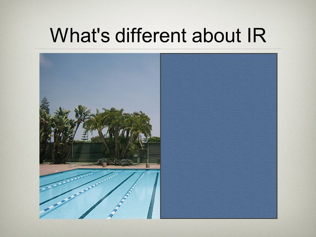 What s different about IR