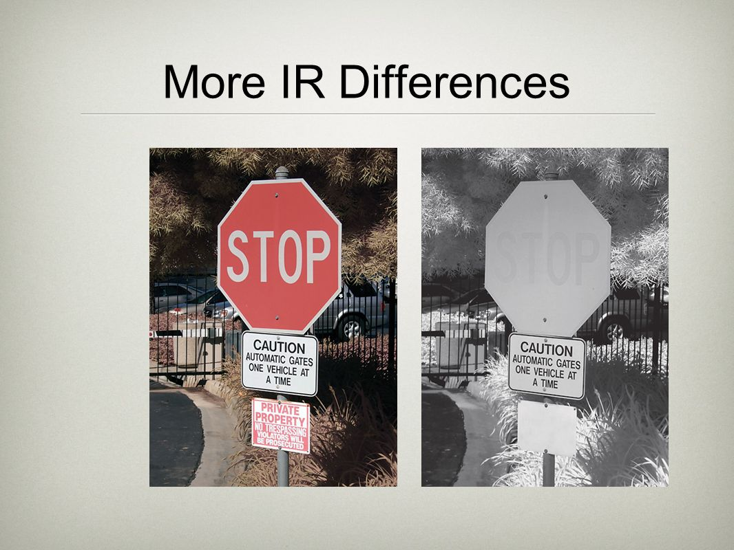 More IR Differences