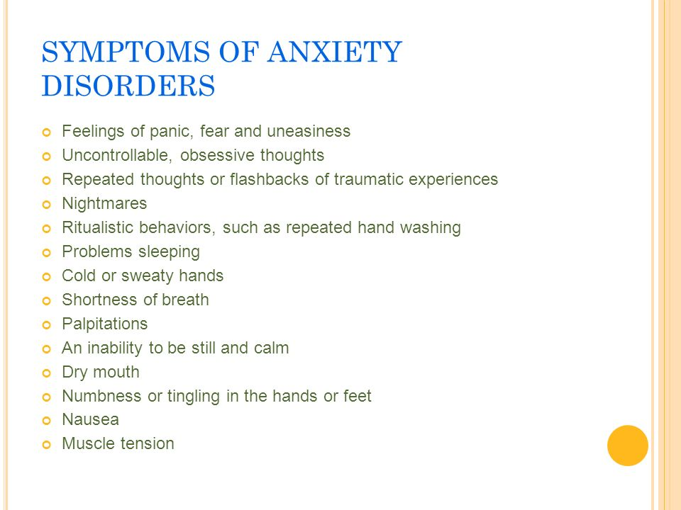 Lecture 6 mental illness ppt download for Tingling in hands and feet anxiety