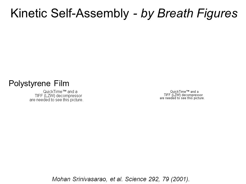 Kinetic Self-Assembly - by Breath Figures