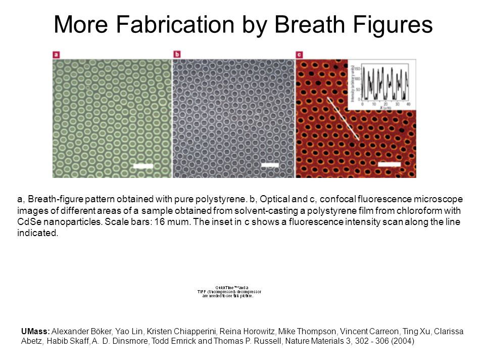 More Fabrication by Breath Figures
