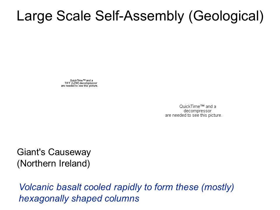 Large Scale Self-Assembly (Geological)