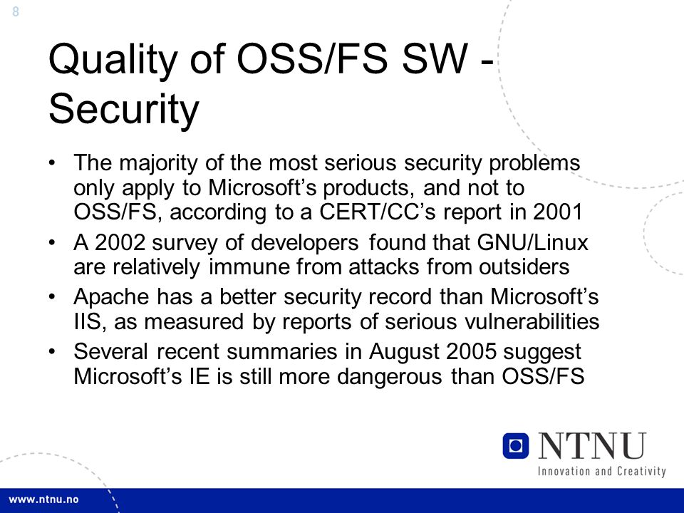 Basic knowledge of open source oss and free software fs ppt quality of ossfs sw security fandeluxe Images