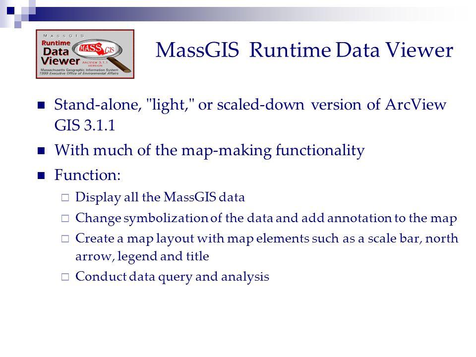 MassGIS Runtime Data Viewer