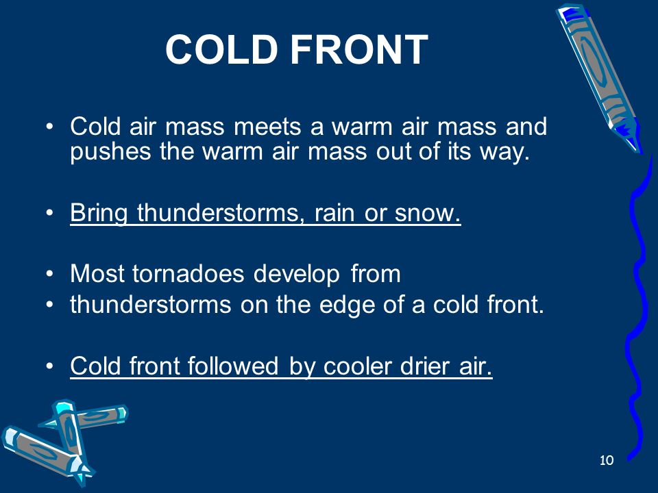 warm air mass and cold meet what happens