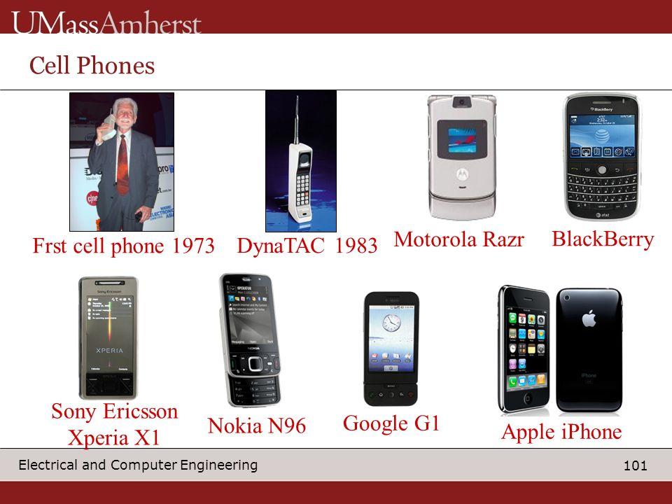 Cell Phones Motorola Razr BlackBerry Frst cell phone 1973 DynaTAC 1983