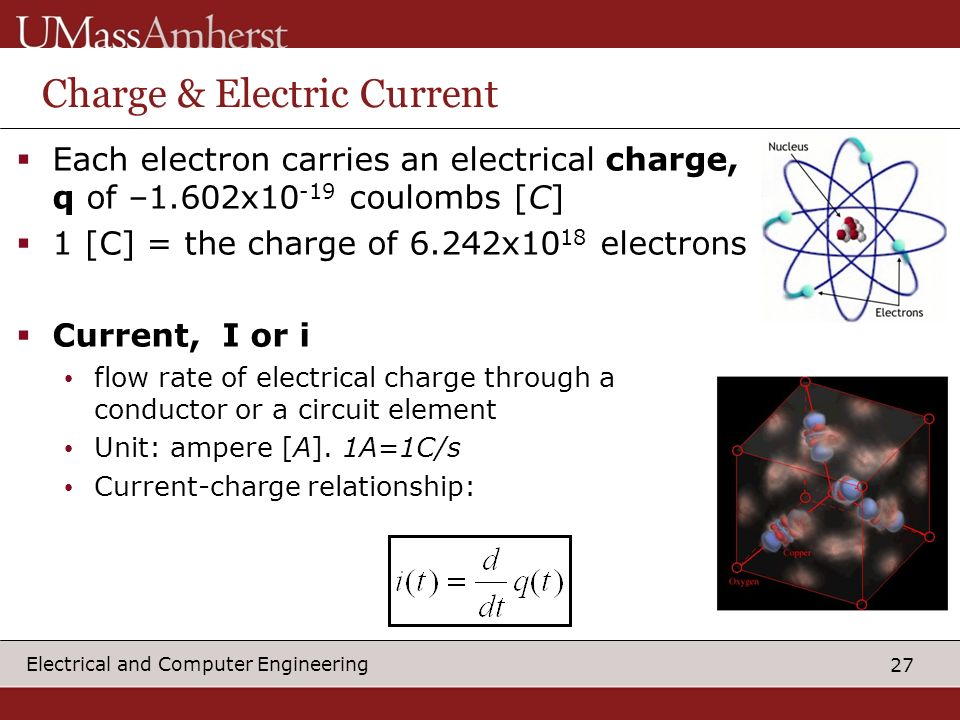 Charge & Electric Current