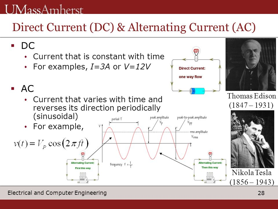 Direct Current (DC) & Alternating Current (AC)