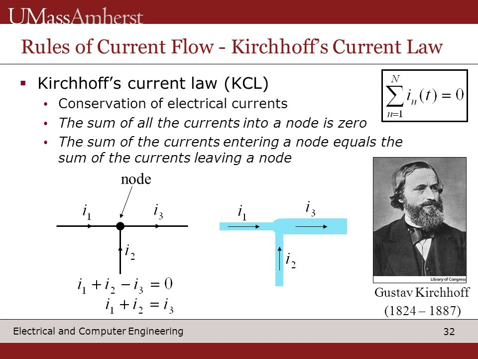 Rules of Current Flow - Kirchhoff's Current Law