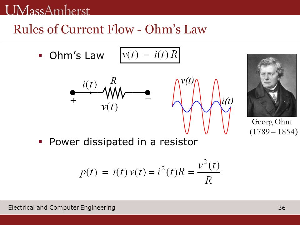 Rules of Current Flow - Ohm's Law