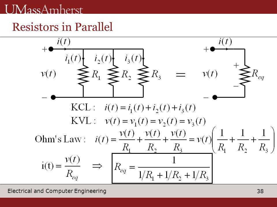 Resistors in Parallel + _ + _ =