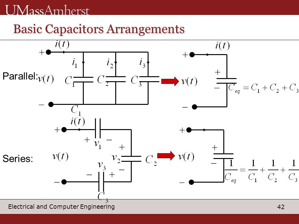 Basic Capacitors Arrangements