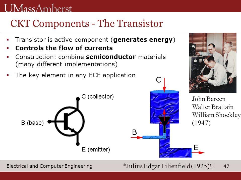 CKT Components - The Transistor
