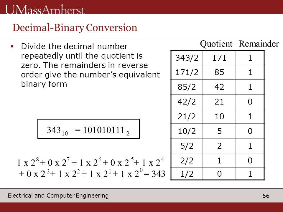 Decimal-Binary Conversion