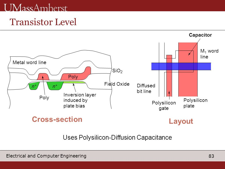 Transistor Level Cross-section Layout
