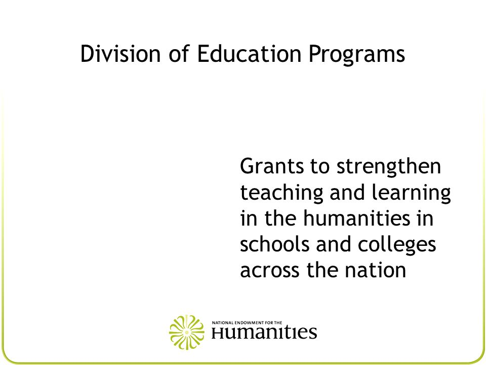 Division of Education Programs