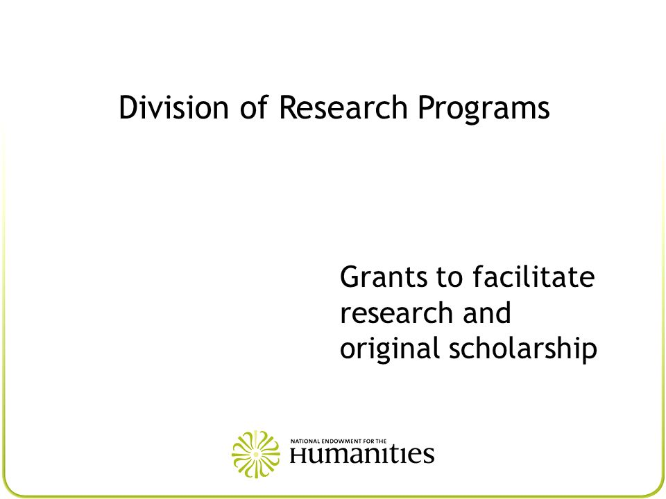 Division of Research Programs
