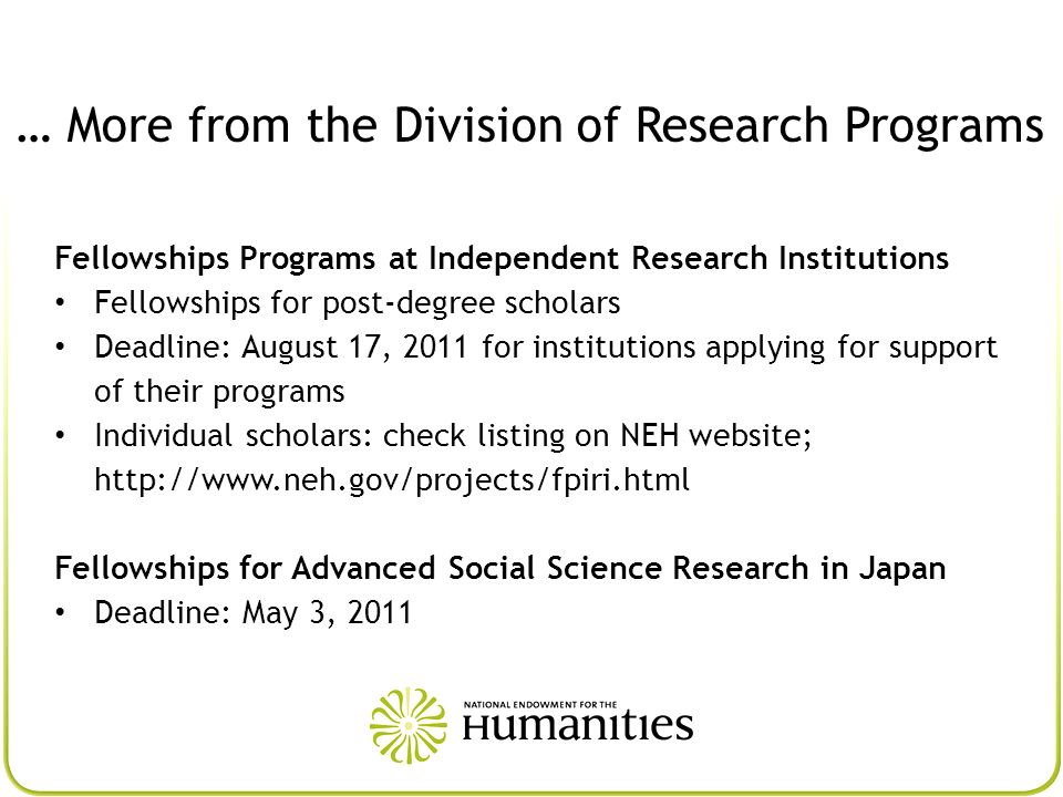… More from the Division of Research Programs