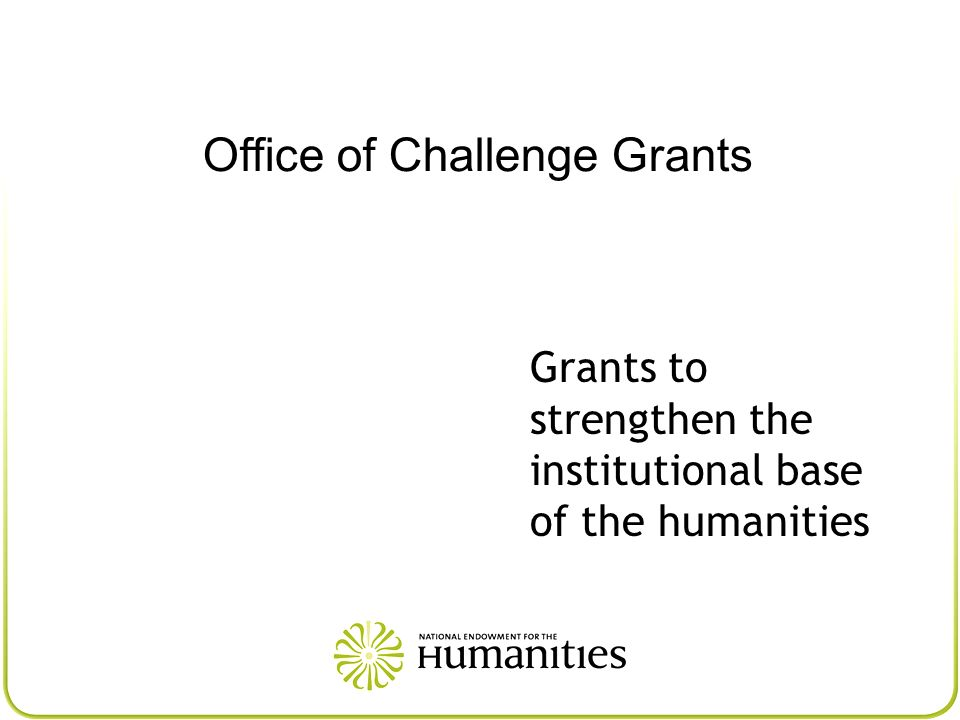 Office of Challenge Grants