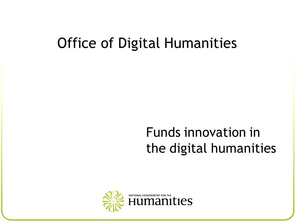 Office of Digital Humanities