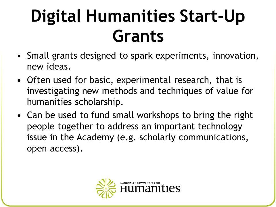 Digital Humanities Start-Up Grants